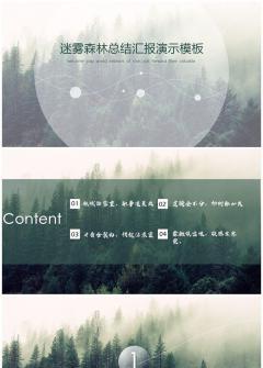 【迷雾森林】唯美大气商务演示模板
