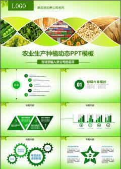 绿色生态农业招商农产品介绍PPT模板