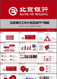 扁平化北京银行工作计划总结汇报动态PPT模板