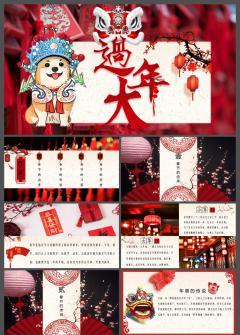 中国传统节日春节习俗介绍ppt模板