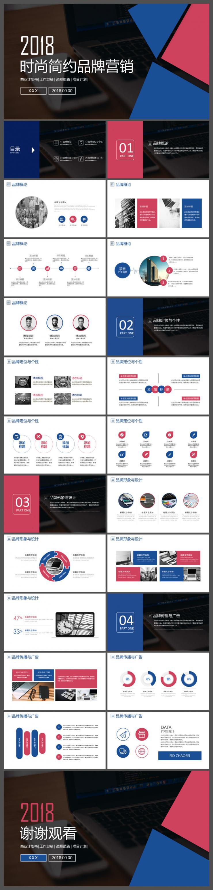 时尚唯美品牌营销方案策划计划书PPT模板