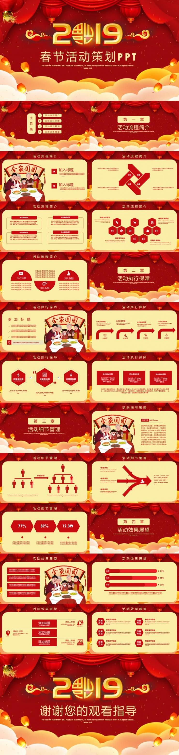 2019年新年春节活动策划PPT模板