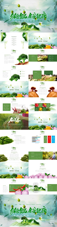有机蔬菜食品通用PPT模板下载