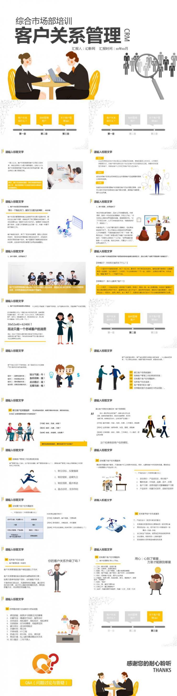 客户关系管理培训PPT模板