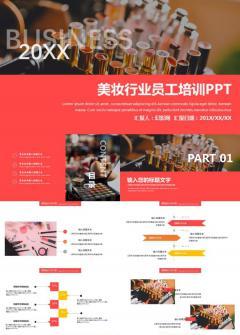 美妆行业员工培训PPT模板下载