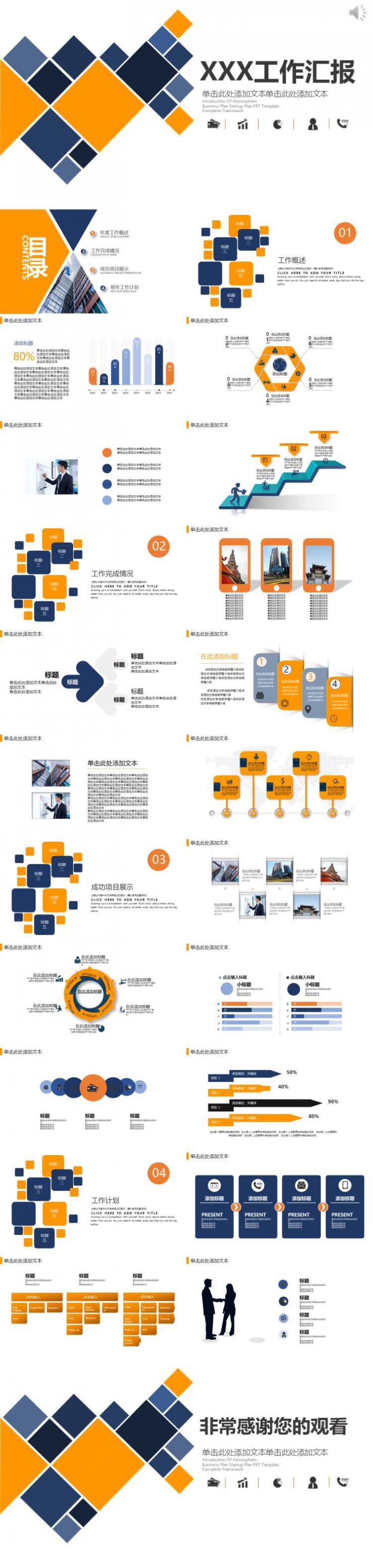 高端大气商务工作汇报年度总结PPT模板