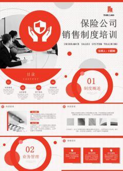 内容型保险公司销售制度培训模板