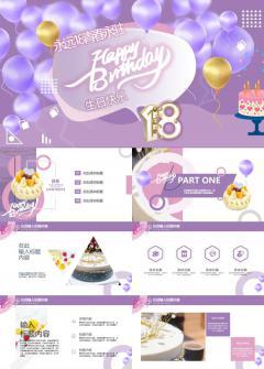 生日会活动宣传策划节日庆典推广PPT模板